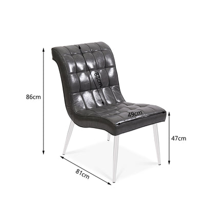 Waving Lounge Leather Chair - Lifelook Store
