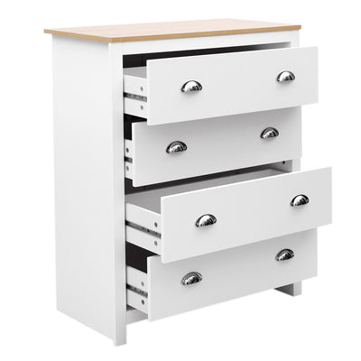 Versatile 4-Drawer White Storage Cabinet - Lifelook Store