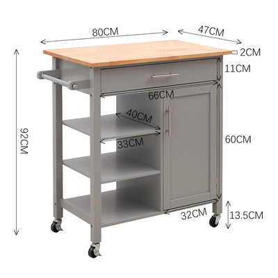 Medium Size Multi-Function Rolling Kitchen Trolley - Lifelook Store