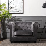King Armchair in Chesterfield Velvet
