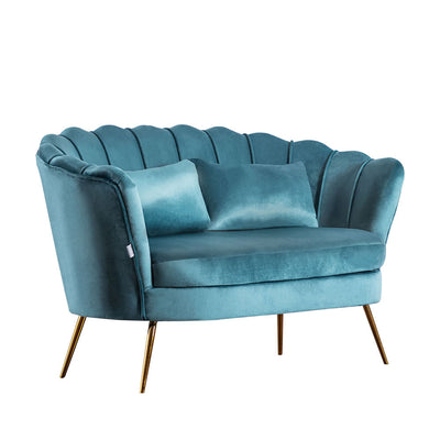 2 Seater Lotus Velvet Sofa - Lifelook Store