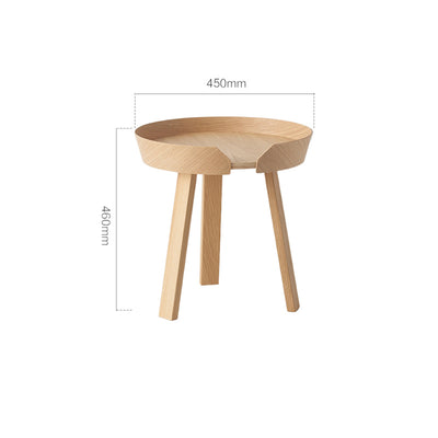 Small Wooden Round Side Table