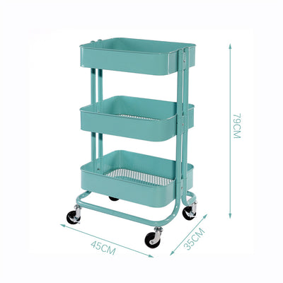 3-Tier Rolling Utility Cart