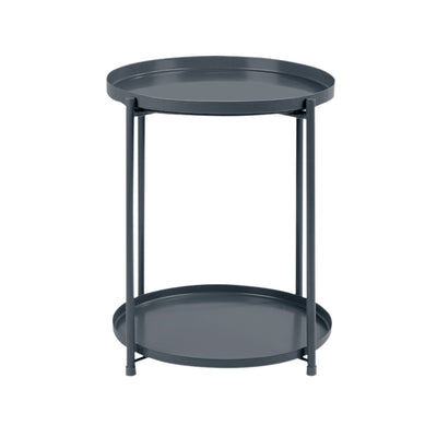 2-Tier Modern Slim Round End Table - Lifelook Store