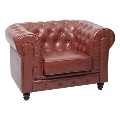 Sorrel Chesterfield Leather Armchair - Lifelook Store