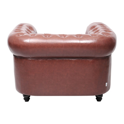 Sorrel Chesterfield Leather Armchair