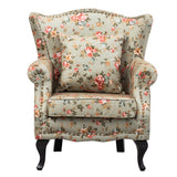 Pastoral Rose Nailhead Fabric Armchair