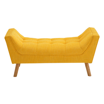 Super Chenille Buttoned Upholstered Hallway Bench