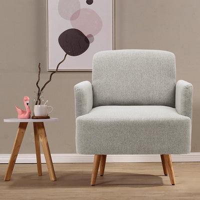 Imitation Cashmere Fabric Tub Armchair Removable Backrest Chairs