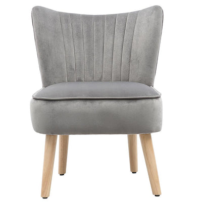 Cocktail Wingback Upholstery Single Velvet Chairs