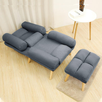 Daybed Padded Recliner Single Sofa Linen Fabric Armchair