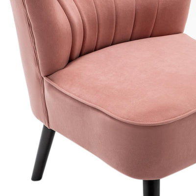 Velvet Oyster Occasional Lounge Buttons Accent Armchair
