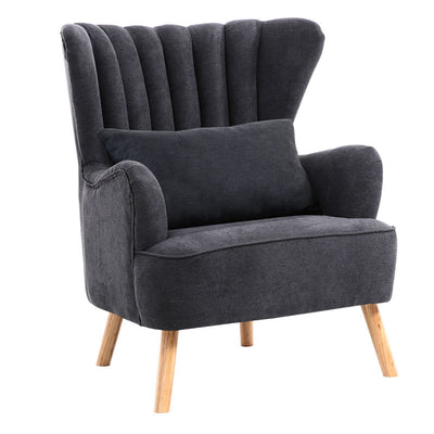 Suede Fabric Lined Wingback Armchair & Footstool( including options for the ones without footstool)