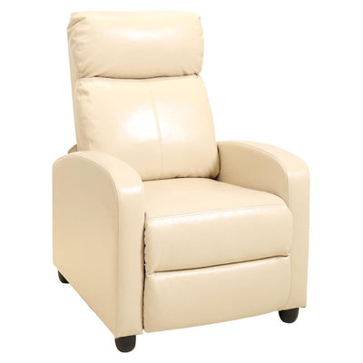 Faux Leather Style Manual Adjustable High Back Recliner Chair