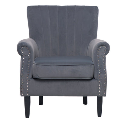 Retro Chesterfield Lined-back Armchair