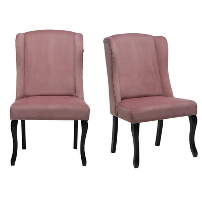 Set of 2 Classic Fabric Home Living Dinner Room Dining Chair