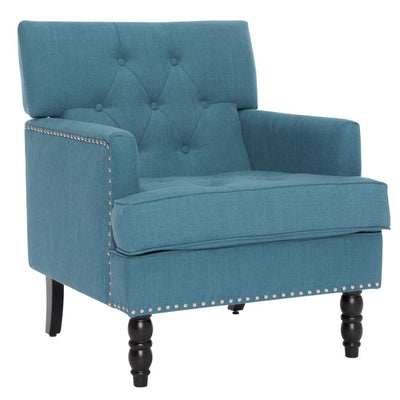 Living Room High Back Button Tufted Armchair Fireside Fabric Sofa
