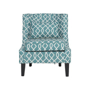 Flower Pattern Single Sofa Fabric Chair