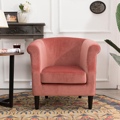 Velvet Padded Tub Accent Armchair Lounge Dining Sofa Chair