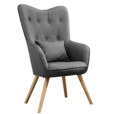 Linen Diamond Tufted Wingback Chairs