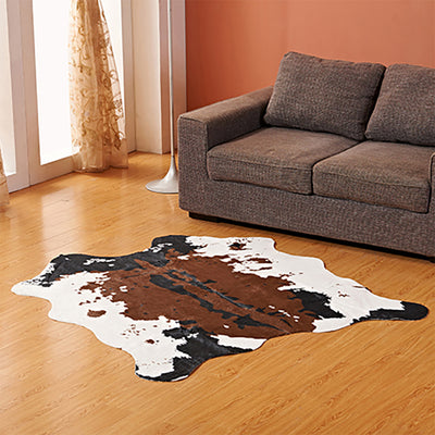 Modern Rug Cow Print Design Floor Rug Mat Soft Pile Carpet