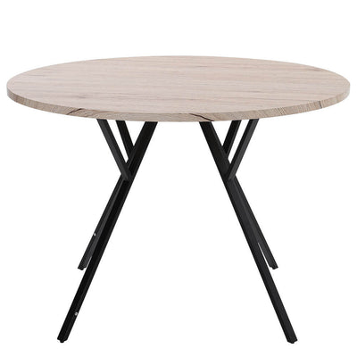 Modern Wood Round Dining Table Simple Coffee Table Home Kitchen