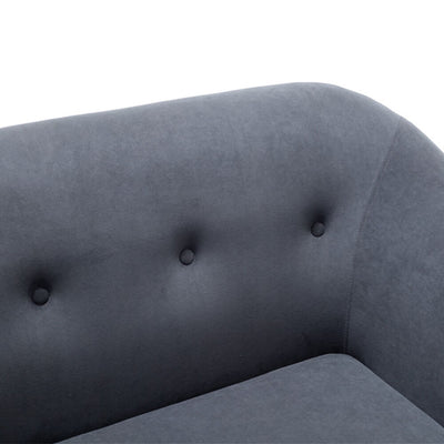Nordic 2 Seater Love Seat Sofa Chesterfield Button Wingback Couch Settee