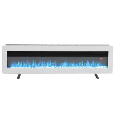 50/60 Inch Insert/Wall Mounted LED Electric Fireplace Crystal Flame Freestanding