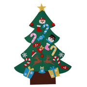 3FT Large Kids DIY Felt Christmas Tree Ornaments Wall Decor