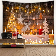 Christmas Party Tapestry Bedroom Background Cloth Wall Art Hanging Decorations
