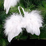 10pcs White Feather Angel Wings DIY Xmas Tree Hanging Ornament