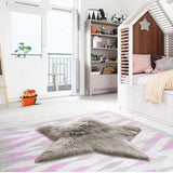 Modern Kids Bedroom Floor Mat Baby Room Play Carpet Star Shape