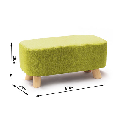 Nordic Small Rectangle Linen Footstool