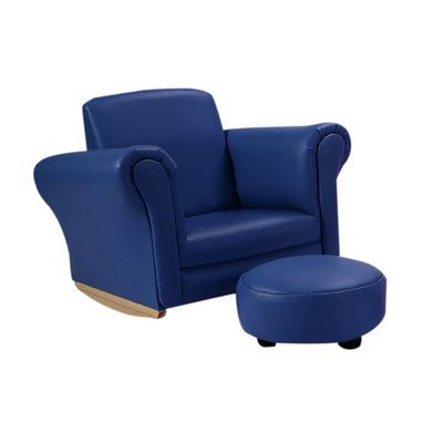 Kids Rocking Single Sofas Princess/Prince Armchairs with Footstool