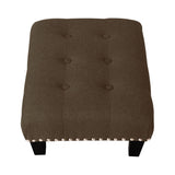 Small Buttoned Linen footstool - Lifelook Store