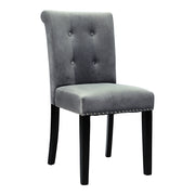 Knocker Buttoned Velvet Dining Chair