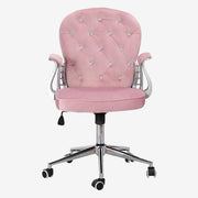 Velvet Upholstered Office Ergonomic Executive Swivel Task Chair - Calyhome