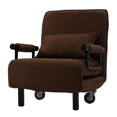 Single Seater Sofa Bed Adjustable Recliner Lounge Armchair