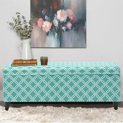 Vintage Printed Fabric Ottoman Storage Box Bench Window Seat Padded Piano Chairs