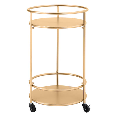 Two-Layer Metal Wine Rack Cart Rolling Bar Serving Trolley Kitchen Drinks Holder