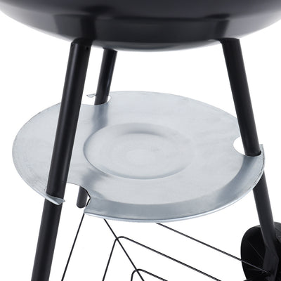 Portable Outdoor Charcoal Barbecue Grill with Wheels