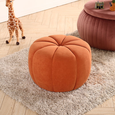 Fabric Sofa Pumpkin Footstool Pouffe Chair Ottoman Padded Stools