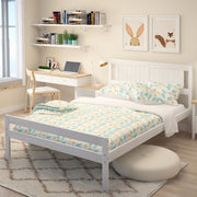 4ft Single Size Solid Pine Wooden Bed Frame White Bedstead Bedroom
