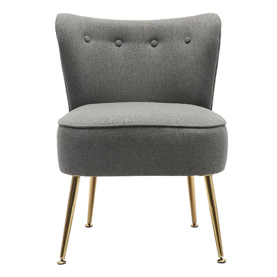 Upholstered Cocktail Armchair Accent Wingback Button Dining Chair Occasional Sofa