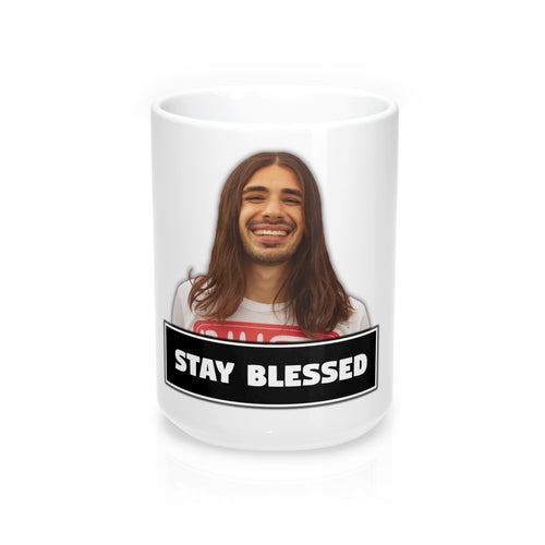 An0maly Stay Blessed! 15 Ounce Mug.