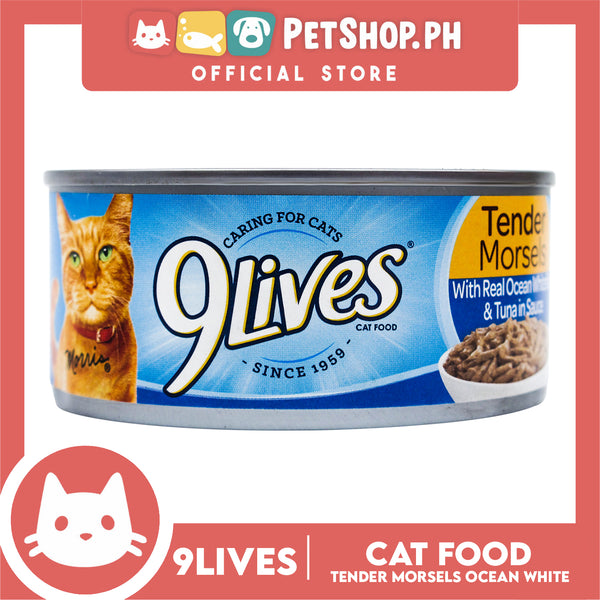 9Lives Tender Morsels with Real Ocean Whitefish and Tuna in Sauce 156g