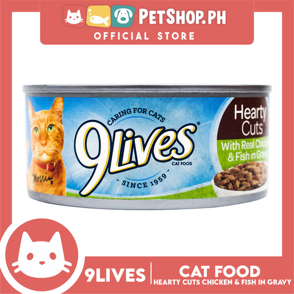 9Lives Hearty Cuts with Real Chicken and Fish in Gravy 156g