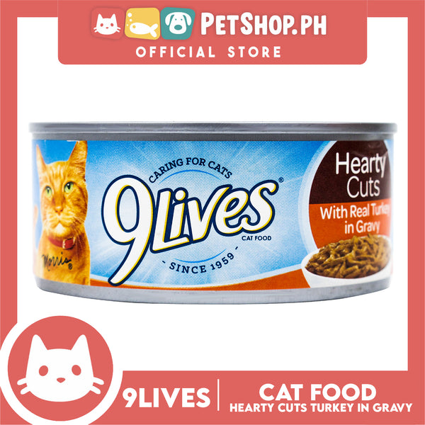 9Lives Hearty Cuts with Real Turkey in Gravy 156g