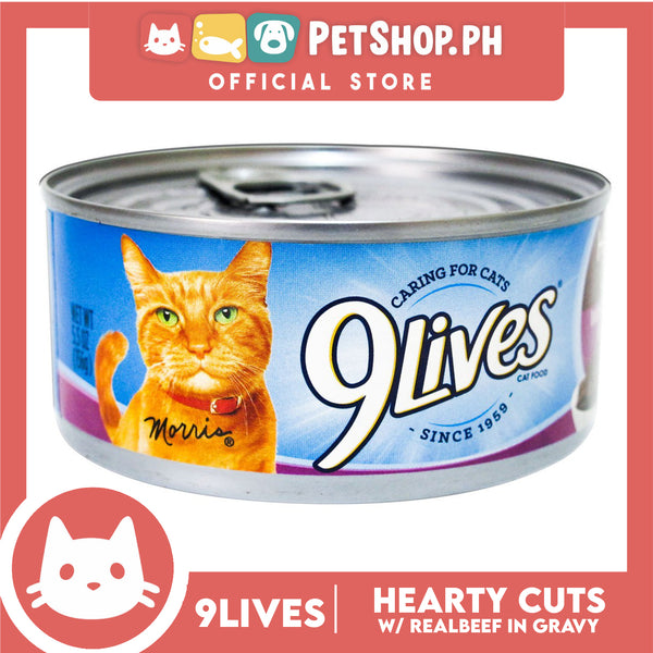9Lives Hearty Cuts with Real Beef in Gravy 156g