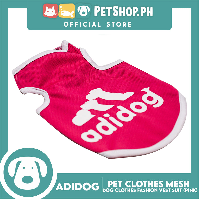 Adidog Pet Clothes Mesh Vet, Summer Dog Clothes, Breathable Mesh Vet, Dog Shirt, Pet Jersey, Fashion Vest Suit for Dogs (Pink) (Extra Large)